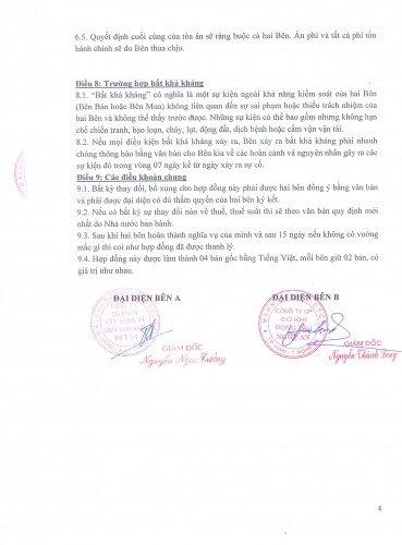 Hợp đồng ký kết máy bơm Ebara nhập khẩu